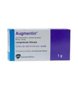 AUGMENTIN 875 mg/125 mg x 14 COMPR. FILM. 875mg/125mg GLAXOSMITHKLINE  IRE