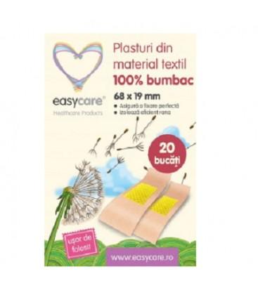 EASYCARE Plasturi textili 68mm x 19mm x 20buc