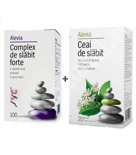 Silfide Complex de slabit Forte x 100 cp+ Ceai de slabit x 30 pl cutie  ALEVIA