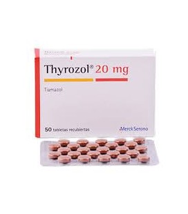 THYROZOL 20mg X 50 COMPR. FILM.