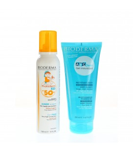 BIODERMA Photoderm Kid spuma + ABC DERM gel x 200ml Cutie  BIODERMA