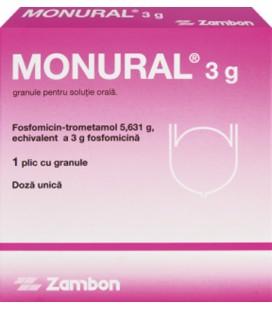 MONURAL (R) 3 g X 1 GRAN. PT. SOL. ORALA 3g/plic