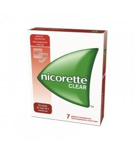 NICORETTE CLEAR 25 mg/16 ore X 7 PLASTURE TRANSDERMIC