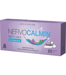 Nervocalmin Somn usor cu valeriana x 20cp Cutie  BIOFARM